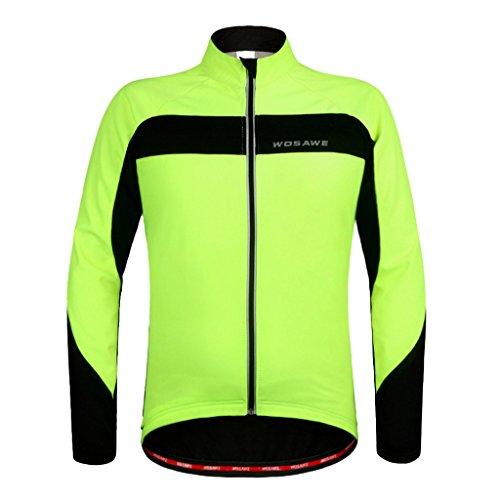 Fenteer ポリエステル製  サイクリングジャージー  サイクリングジャケット  長袖   ソフト シェル サーマル フリース  全5サイズ選べる