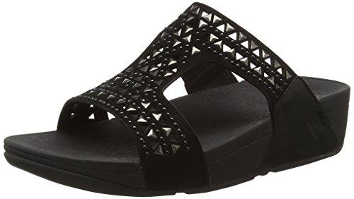 6e9fe0d685729 FitFlop Women s Carmel Suede Slide Sandals All Black 10 - Buy Online in  Oman.