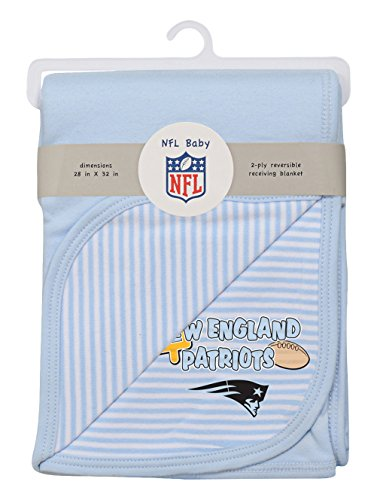 Soft Patriots England New Blanket (NFL by Outerstuff NFL Newborn Blanket, New England Patriots, Blue, 1 Size)