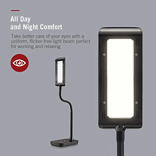 TaoTronics LED Desk Lamp, Flexible Gooseneck Table Lamp 7W, 5 Color Temperatures with 7 Brightness Levels, Touch Control, Memory Function by TaoTronics (Image #2)