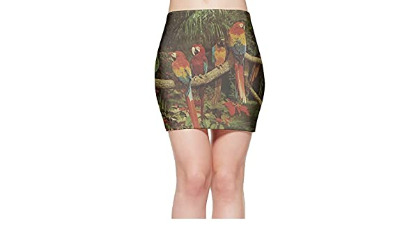 Parrot Jungle, Miami Womens Sexy Slim Mini Dress at Amazon Womens Clothing store: