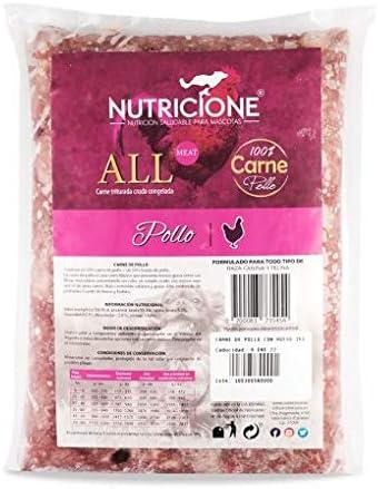 Nutricione - Barf Carne de Pollo 9Kg congelada (9 Paquetes de 1Kg ...