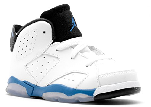 Jordan VI (6) Retro (Toddler) - White / Sport Blue-Black, 7 M US by NIKE