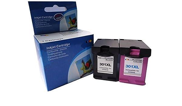 Cartuchos Reemplazo para HP 301XL Cartuchos Tinta Remanufacturados ...