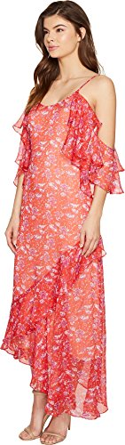 Adelyn Rae Womens Kaileen Tissé Robe Slip Jabot Imprimé Rouge Orange