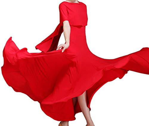 dance Ballroom dress Waltz modern Red Evening dress dress National dress style wtT4ffIq