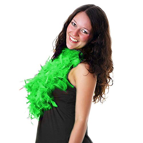 Fun Central AU138, 1 Pc, 6 Feet, 60g, Green Feather Boa, Scarf and Wraps, Feathers For Crafts, Party Accessories for St Patrick, Mardi Gras, Festivals, and Themed Parties