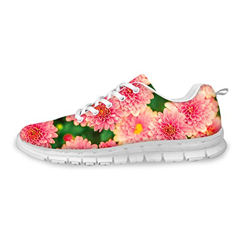 Frestree Fashion Lace Up Printing Flat Casual Shoes 3D Printed Sneaker