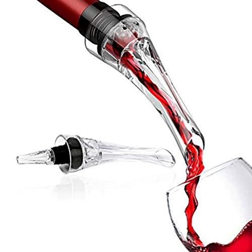 Decantador de Vino Vituzzi®. Aireador / Vertedor Compacto para Vino, para cualquier tipo de Botella y Vino, Tinto Rosado y...