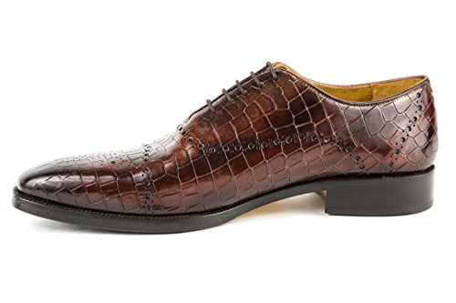 Melvin & Hamilton - Zapatos de cordones de charol para hombre marrón marrón 42