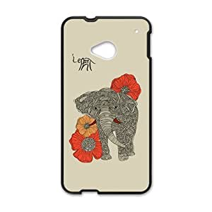 Beautiful flowers elephant Cell Phone Case for HTC One M7 by rushername