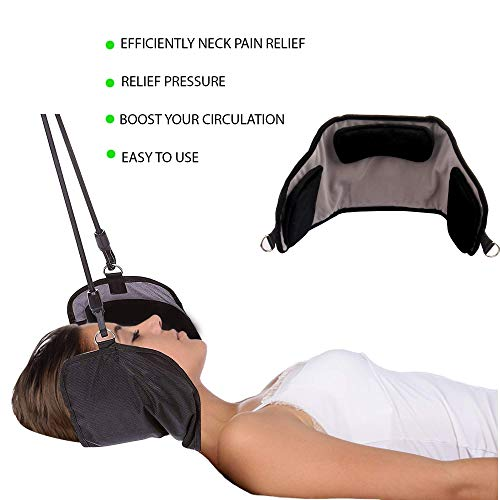 Hammock for Neck by ENXICO - Portable Neck Stretcher Cervical Traction Device | Rapidly Neck Pain Relief | Perfect for Your Stiff Neck and Shoulders + 3D Eye MASK Gift by ENXICO (Image #1)