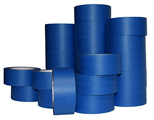 JAK Industrial Blue Painters Tape PROFESSIONAL Grade - CASE of 24 - 2'' x 60 Yards per roll (48MM / 1.88 inches) by JAK Industrial