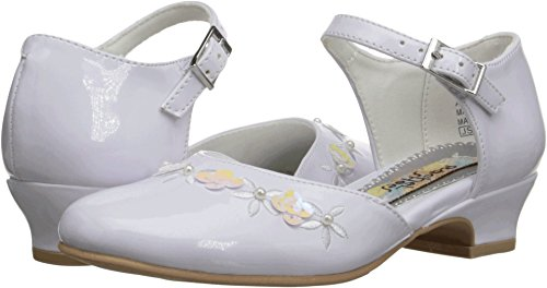Rachel Shoes Isla Dress Shoe (Little Kid/Big Kid), White Patent, 2 M US Little Kid