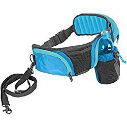 Outward Hound Kyjen 23003 Hands Free Hipster Dog Leash Storage Accessory 5ft Leash Included, Blue