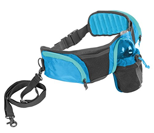 Outward Hound 23003 Hands Free Hipster Dog Leash Storage Accessory 5ft Leash Included Blue