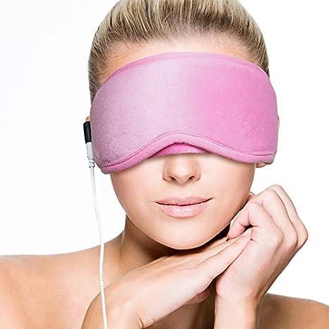 Máscara de ojo caliente eléctrica ARRIS USB para el tratamiento de la blefaritis, máscara de ojo seco para dormir, alivio del insomnio, enfermedad de la glándula de Meibomio, rosa