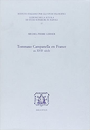 En ligne Tommaso Campanella en France au XVIIe siècle pdf epub