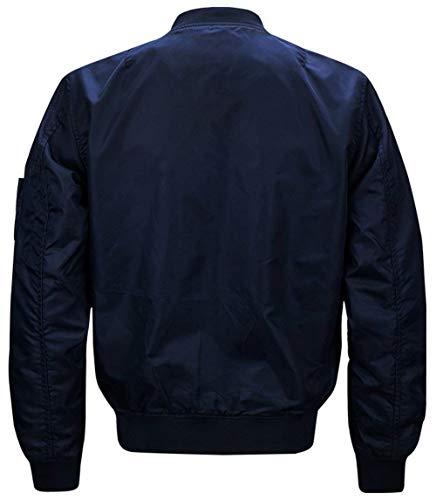 Blau Chaqueta Bombardero para Vuelo Ligero De De Clásico De Piloto Hombres Acolchado De Ma1 para De Hombre Bombardero N1 Chaqueta Bombardero Chaqueta 1FqTw1nr