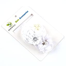 Roewell Baby-Girls\' Hair Bows, Crystal Flower (5 Pack)