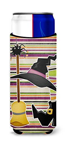 Witch Costume and Broom on Stripes Halloween Ultra