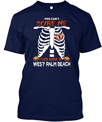 You Cant Scare me i was Born in west. 5XL - Navy Tshirt - Hanes Tagless Tee]()