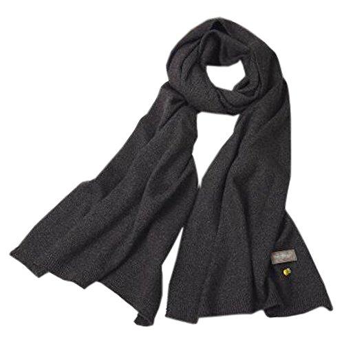 仮定アスペクト繊毛レディース女性のベストスカーフ編みパイナップルスカーフウォーマーネッカーコフネックウォーマー、ダークグレー