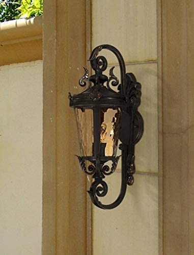 Casa Marseille Vintage Outdoor Wall Light Bronze French Vintage Sconce Fixture