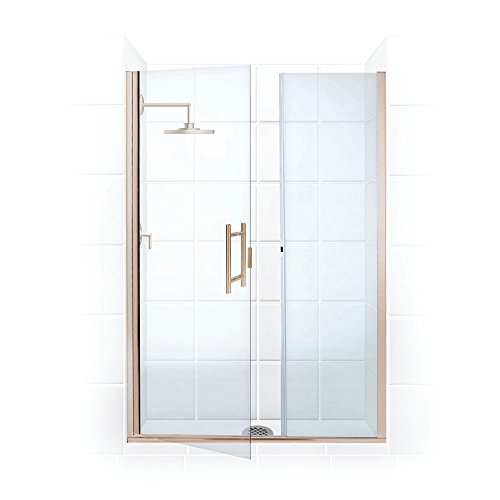 Coastal Shower Doors HL5775IL.75N-C Illusion Frameless Shower Door and Inline Panel with Ladder Pull Handle 57.75 Brushed Nickel ()