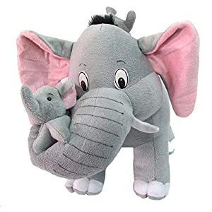 Cute Grey Mother Elephant with...