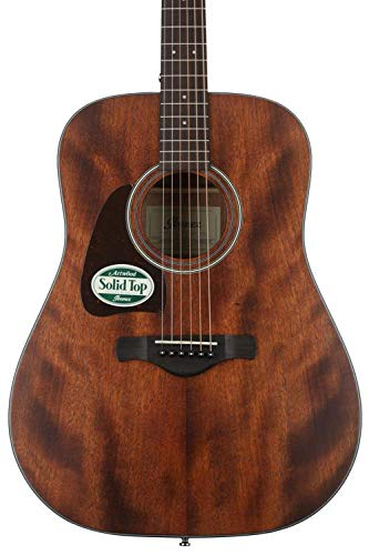 (Ibanez AW54L Artwood Dreadnought Left-Handed Acoustic Guitar - Open Pore Natural)