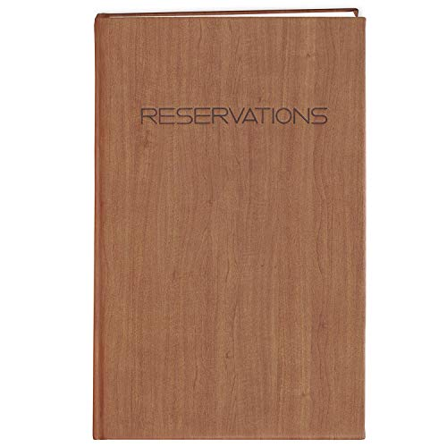 BookFactory Restaurant Reservations Book, 365 Day Table Reservations, Dinner Reservations Book, 408 Pages 8 7/8