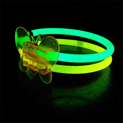 Dart3089 Colored Party Wristbands Colorful Butterfly Connector Luminous Glow Sticks Bracelet Wristband -