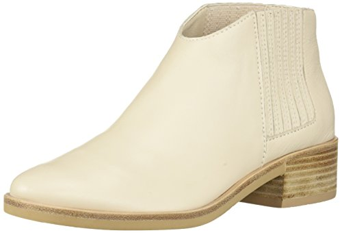 Booties Ivory - Dolce Vita Women's Towne Ankle Boot, Ivory Leather, 8 M US