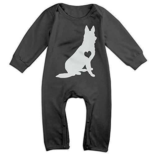 German Shepherd Clothes - Mri-le1 Toddler Baby Boy Girl Bodysuits Adore German Shepherds Baby Clothes