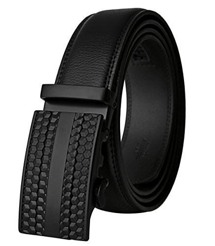 Lavemi Men's Real Leather Ratchet Dress Belt with Automatic Buckle,Elegant Gift Box(25-0383) ()