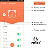 Peteme Automatic Cat Feeder,2.4GWi-Fi Enabled