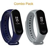 Epaal® Replacement TPU Silicon Band Strap for Xiaomi Band 3 Mi Band 3 (Navy Blue + Ash Grey)