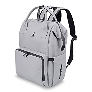 RUNKA Diaper Bag Backpack -Travel Bag Baby Backpack - Multifunction Nappy Changing Bag for Baby Essentials Gray