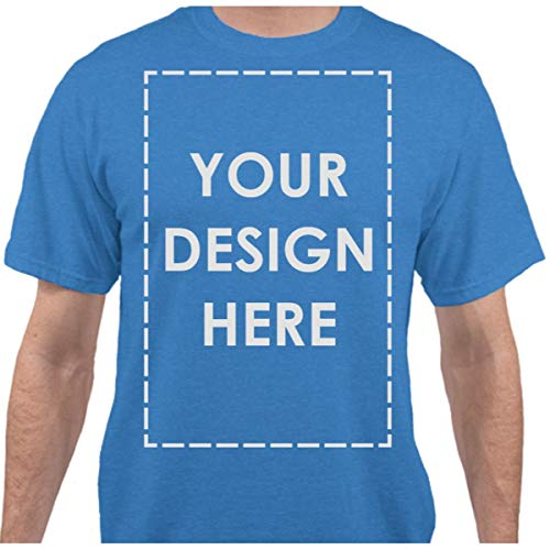 Add Your Own Custom Text Name Personalized Message or Image Heather Royal T-Shirt - Large]()
