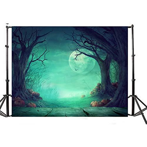LEDMOMO 150x200cm Photo Backdrop,3D Halloween Creepy Backdrop Realistic Horror Theme Background for Parties Photography Studio Photo Booth]()