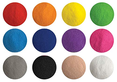 Creative Sand Store Colored Sand, Fine Sand for Sand Art & Crafts, Decorative Sand for Terrariums & Sand Pictures (12 Colors 2.64 LBS)]()