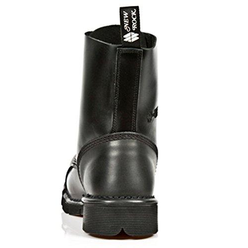 NEWROCK New Rock Bottes Style M.NEWMILI083 S1 Noir Unisexe Embout d'acier