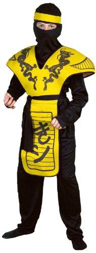 Forum Novelties Yellow Dragon Ninja Warrior Costume, Child Small (Yellow Ninja Kids Costumes)