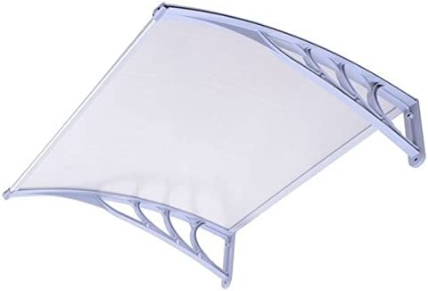 Outdoor Window Door Patio Sun Shade Awning 3ft, Clear White