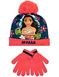 Disney Girls Moana Hat and Gloves Set Pink One Size
