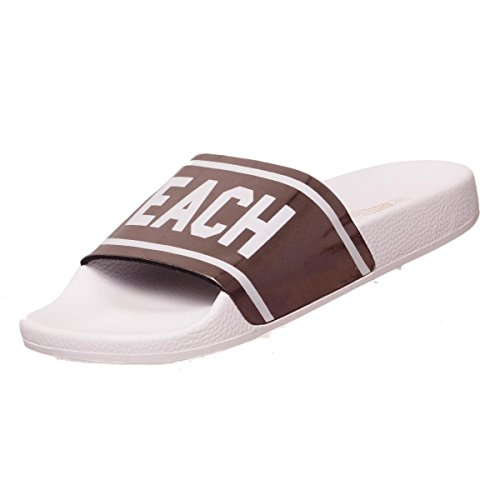 THE WHITE BRAND Women's Holy Beach Open Toe Sandals, Gold Argent (Silver)