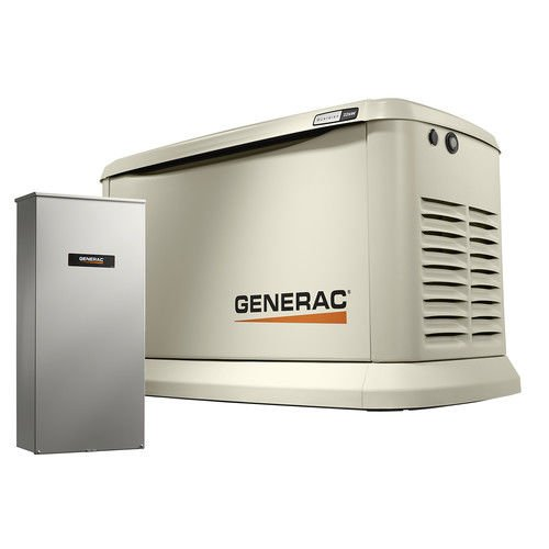 Generac 7043 Guardian Series 22kW/19.5kW Air Cooled Home Standby Generator with Whole House 200 Amp Transfer Switch (not CUL)