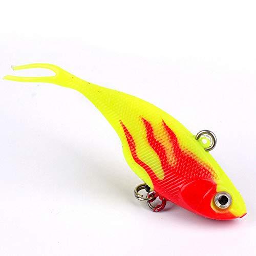 Ameglia 6.8cm/9.5g Lead Fish Vib Fishing Lure Silicone Artificial Bait Soft Fishing Bait (Color - E) - Joint Rap Lure