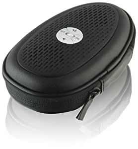 GPX, Inc.  Portable Pouch Speaker with Built-In 3.5mm Audio Input Cable - Black